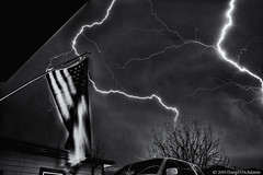 Dual Flash - BnW Edit (Uncharted Sights) Tags: thunderstorm 17th lightning april 2019 thunder storm severe sky weather chase colorado canon exposure skies night long flash tamron 1750 commerce city denver atmosphere power adventure nature