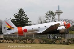 CURTISS EC46A COMMANDO 91-1143 JASDF (shanairpic) Tags: military transport c46 curtisscommando jasdf japan preserved museum 911143