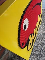 Lego Duplo shop display sign (Fantastic Brick) Tags: lego duplo display sign shop shopdisplay glued bunny giant