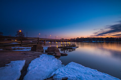 Norssaari bridge (Jyrki Salmi) Tags: jyrki salmi norssaari kotka finland evening sunset winter spring snow blue