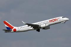 F-HBLI HOP! EMB190 Birmingham 13/04/2019 (Tu154Dave) Tags: hop embraer emb190 fhbli bhx birmingham airfrance france paris airport airliner