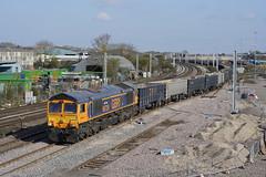 66729 Wellingborough (Gridboy56) Tags: gm gbrf northamptonshire wagons wellingborough locomotive locomotives uk trains train railways railroad railfreight europe england emd diesel freight class66 cargo 66729 derbycounty