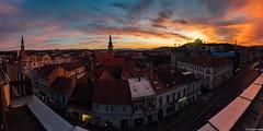 Sunset over Cluj (Lucian Nuță) Tags: cluj napoca clujnapoca sunet restaurant klausenburger romania landscape