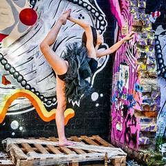 IMG_1060950 (Kathi Huidobro) Tags: tutu urbandance eastlondon urbanscene urban murals graffiti streetart contrasts streetscene pose posing london candid ballerina ballet streetphotography bricklane