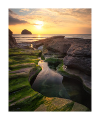 Trebarwith Strand (Rich Walker Photography) Tags: cornwall beach beaches seascape sea ocean sunset rock water sky island cloud evening landscape landscapes landscapephotography clouds canon england efs1585mmisusm eos eos80d coast coastline coastal