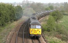 56113 & 56090 Coote Lane  18/04/19. (Mr Corbett's stuff) Tags: 56113 56090 colas 6e32 preston lindsey tanks bitumen farington coote lane