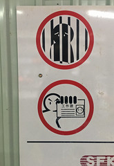 No Tresspassing (cowyeow) Tags: hongkong china chinese asia asian sign city funnychina funny funnyhongkong funnysign kowloon warning forbidden id jail arresting police