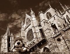 Catedral de León, España. (Caty V. mazarias antoranz) Tags: spain españa catedrales homenajeanotredame recordandoanotredame parís conparís catedralesespañolas monumentosdeespaña semanasanta religión ateísmo arte solidaridad recuerdo hermandad reconocimiento arquitectura arteenpiedra castillayleón león leoncia