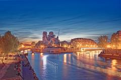 Notre Dame (Filip42) Tags: notredame paris france bluehour sunset longexposure church cathedral fire