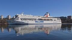 The ferry Victoria I arriving in Stockholm (Franz Airiman) Tags: tallink båt boat ship fartyg bay fjärd lillavärtanbay lillavärtan lidingö bodal ferry färja spegling reflection larsberg