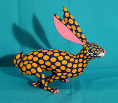 Rabbit Running Conejo Oaxaca Mexico (Teyacapan) Tags: conejo rabbit animals alebrijes oaxaca mexico woodcarvings folkart arielplayas