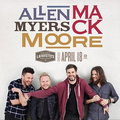 Memphis! Tonight at @lafayettesmemphis #AMMM @clydeacorn @zackmack513 @zmyersofficial @jrmooremusic @ammmofficial Who's going to the show?! (AllenMackMyersMooreNation) Tags: allen mack myers moore ammm