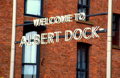 Welcome to Royal Albert Dock Liverpool (Tony Worrall) Tags: liverpool merseyside scouse architecture building city tourist albert dock royalalbertdockliverpool sign signage letters entrance words welcome