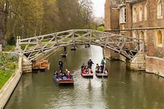 Photo of Punts under the Mathematical Bridge