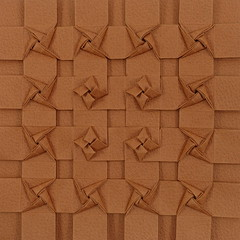 Braided Pinwheel Tessellation and Biogami paper review (Michał Kosmulski) Tags: origami tessellation pinwheel windmill fan star paperreview paper michałkosmulski biogamipaper brown tan buff