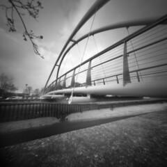 2242 Footbridge (Monobod 1) Tags: ondu pinhole 6x6 ilford panf rodinal epsonv800 lensless 120 blackwhite