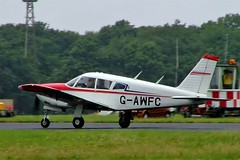 G-AWFC   Piper PA-28R-180 Cherokee Arrow [28R-30670] Kemble~G 01/07/2005 (raybarber2) Tags: 28r30670 abpic airportdata cn28r30670 egbp flickr gawfc planebase raybarber single ukcivil filed