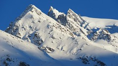 Snowy peaks (solarisgirl) Tags: kalga himachalpradesh snow white mountain peak rocky sunshine sunrise