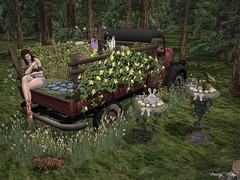 A Spring Oasis... (Tonny Rey) Tags: events swank deco garden woman clothing