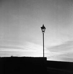 Morning Light II (bigalid) Tags: film 120 6x6 coronet 66 rexflash march 2019 fomapan 100iso dumfries bw fixedfocus vintage devorgilla bridge nith lamp