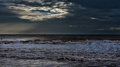 Winter weather, waves and wet suits (Neil. Moralee) Tags: neilmoralee surfneilmoralee water waves surf surfer wet suit cold winter weather clouds sun shadows beach sidmouth devon uk people swim swimmer swiming wind sky sunlight seascape neil moralee nikon d7200 colour color shades