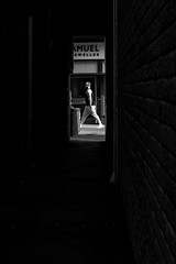 Alley Exit (EightBitTony) Tags: lincoln alley male urban canon7d2 march man streetphotography person city blackandwhite lincolnshire 2019 uk citycentre bw blackwhite canon canon7dmarkii canon7dmark2 canon7dmk2 canon7dii canondslr canoneos canoneos7dmarkii canoneos7d2 canoneos7dii mono monochrome england unitedkingdom