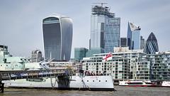 HMS Belfast, London, England, UK (godrick) Tags: europe england london unitedkingdom gb hmsbelfast stern skyline