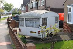 Vintage Bailey Caravan/Trailer (doojohn701) Tags: vintage trailer white caravan sunlight sky road vegetation houses windows chrome bailey shadow wall brickwork uk