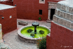 Water Flountain (E. Aguedo) Tags: water fountain colors contrast arequipa peru southamerica stone wall patio convent america