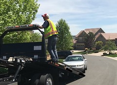 Denver wheel lift tow truck service (South Denver Towing Company) Tags: wheel lift tow truck denver