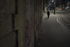 . (Le Cercle Rouge) Tags: paris france portedevanves 75014 darkness light human shadow silhouette nocturne graff graffiti graffitiart streetart handstyle flop tag painters