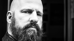 It's Friday (Hendrik Lohmann) Tags: streetphotography street streetportrait people portrait düsseldorf duesseldorf closeup blackandwhite bwstreet bnw bw blackandwhiteportrait beards