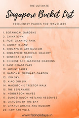 ✈️😍THE ULTIMATE SINGAPORE TRAVEL BUCKET LIST😍✈️ (fabholidays) Tags: