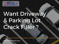 Want Driveway & Parking Lot Crack Filler? (Tucson Rubberized Coatings) Tags: driveway repair parking lot tucson tucsonrubberizedcoatings