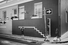 Paint my own reality (hermez) Tags: southafrica portrait lines arrows monochrome bokaap capetown kid child street