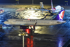 AIR MACAU A320-232(WL) B-MCH 002 (A.S. Kevin N.V.M.M. Chung) Tags: aviation aircraft aeroplane airport airlines airbus plane apron macauinternationalairport mfm spotting beacon raining a320