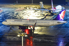 AIR MACAU A320-232(WL) B-MCH 0011 (A.S. Kevin N.V.M.M. Chung) Tags: aviation aircraft aeroplane airport airlines airbus plane apron macauinternationalairport mfm spotting beacon raining a320