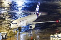Cambodia Airways A319-112 XU-878 001 (A.S. Kevin N.V.M.M. Chung) Tags: aviation aircraft aeroplane airport airlines airbus plane apron macauinternationalairport mfm spotting beacon raining a319