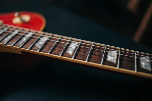 Fingerboard of an electric guitar