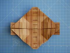 Hexapod module (ISO_rigami) Tags: modular origami 3d a4 hexapod eckhardhennig wood