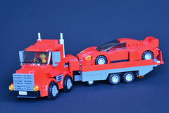 Hybrid Truck 06 (_TLG_) Tags: lego moc duplo truck trailer red car speed champions 6 stud lorry studless transporter 6stud