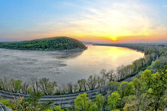 Chiques Rock ( aka Chikies Rock ) (WabbyTwaxx) Tags: chiques rock chickies lancaster county pa pennsylvania columbia susquehanna river sunset