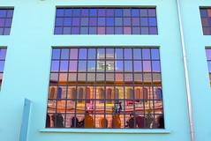 In questa azzurrità... 🎶 (VauGio) Tags: torino turin leicax1 leica leicalens azzurro reflection renatozero spiagge riflettere riflessi riflesso window finestra vetro glass lacittàmetropolitanaditorinovistadavoi