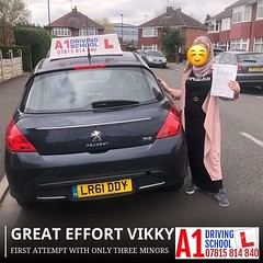 Vikky (A1DrivingSchoolDerby) Tags: a1drivingschoolderby female passinonemonth 1st attempt pass vikky derby driving automatic manual lessons