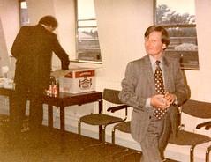384_SurveyorsDeptTrumans1980MalcolmMorris (wrightfamilyarchive) Tags: malcom morris trumans surveyors department 1980 1980s 80s work office workplace suit tie