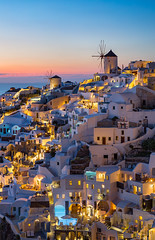 _MG_9582 - Oia mountside in blue hour (AlexDROP) Tags: 2017 europe greece santorini oia greek sea travel color city urban cityscape bluehour architecture mill skyline canon6d ef241054lis best iconic famous mustsee picturesque postcard