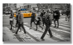 NYC W 34th Street / Taxi Cab (P.J.V Martins Photography) Tags: city taxi cab urban street crossing car carro nyc newyork cityscape panning