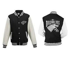 Game of Thrones The Direwolves Men College Jacket Zwart (filmflits) Tags: gameofthrones jas kleding direwolves jacket collegejacket gameofthronesjas mannen