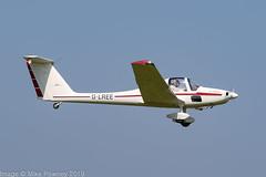 G-LREE - 1984 build Grob G109B, departing from Runway 08L at Barton (egcc) Tags: 6252 barton cityairport dkeko egcb glree glreegroup g109 g109b grob lightroom manchester motorglider