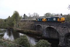 37402+37409 Dunblane, Scotland (Paul Emma) Tags: uk scotland dunblane riverallan river allan viaduct